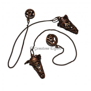 Natural Copper Brass Cage Pendulums