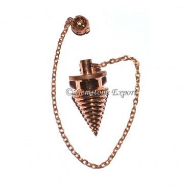 Coper Twisted Metal Pendulums