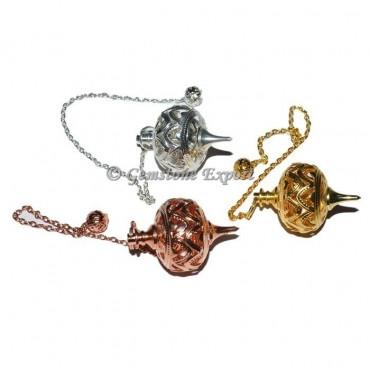 Brass Open able Healing Pendulum