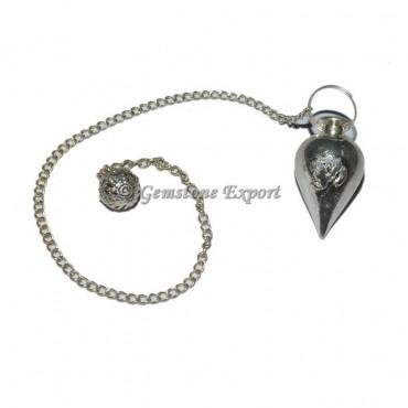 Om Embossed Metal Pendulum