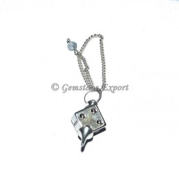 Silver Cube Pendulum