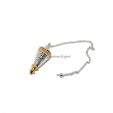 Silver With Gold Pendulum