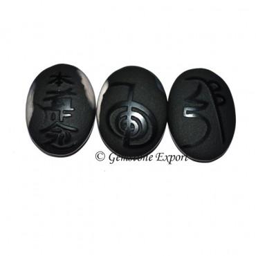 Black Onyx Reiki 1 & 2 Natural Polished Set