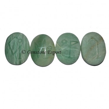 Green Aventurine Arch Angel Natural Polished Set