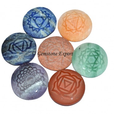 Chakra Disc Natural Polished Set