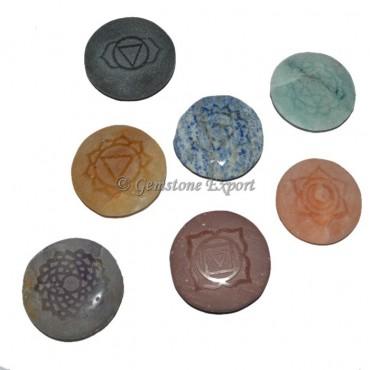 7 Chakra Stone Embossed Set