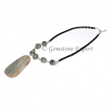 Green Agate Slices Necklace
