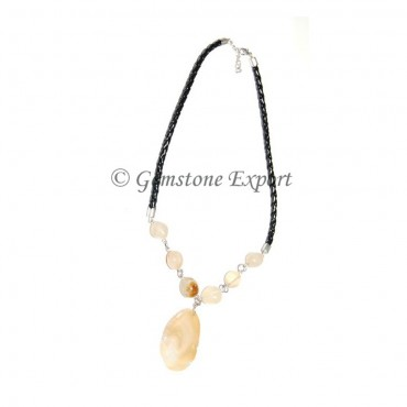 Indian Agate Slices Necklace