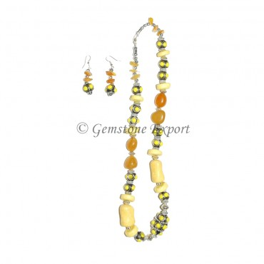 Synthetic Stones Fashion Necklace