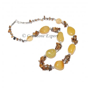 Yellow Agate Fashion Necklace