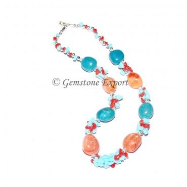 Dyed Stone Fashion  Necklace