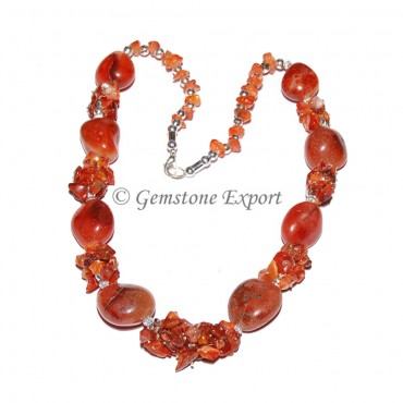 Carnelian Stone Fashion Necklace