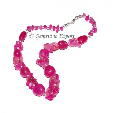 Dyed Stone Fashion  Necklace