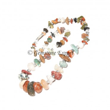 Mix Agate Bagger Necklace