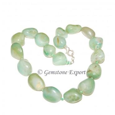 Green Onyx Tumbled Stone Necklace
