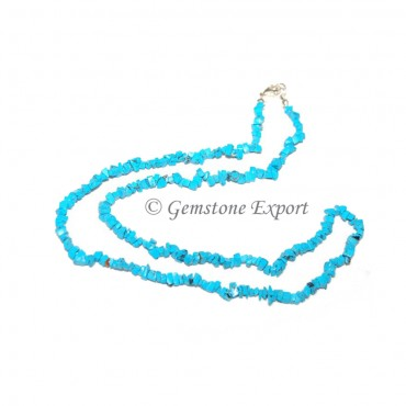 Turquoise Chips Stones Necklace