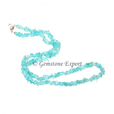 Aquamarine Chips Necklace