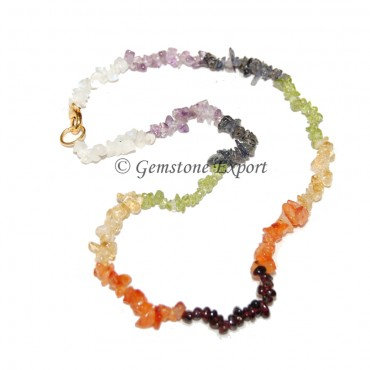 Seven Chakra Chips Necklace