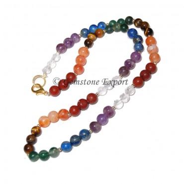 Seven Chakra Stones Necklace