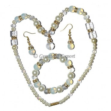 Opal and Crystal Necklace