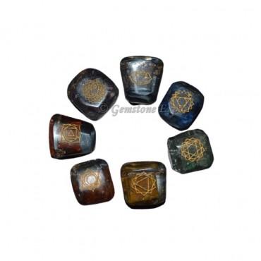 Orgone Chakra Engraved Tumbled Set