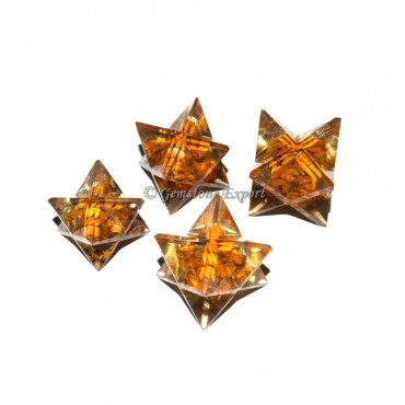 Yellow Jasper Orgone Merkaba Star