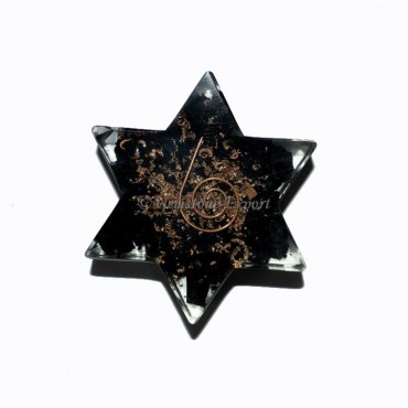 Orgone Black Tourmaline Pentagram
