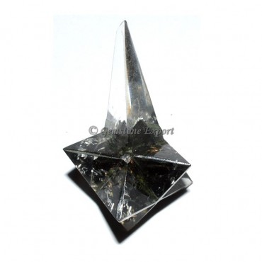 Black Tourmaline Long Stick Merkaba Star