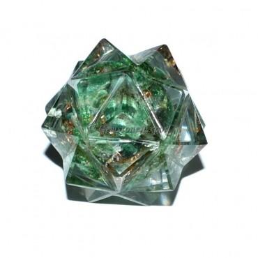 Green Jade 20 Point Orgone Merkaba Star