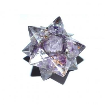 Amethyst 20 Point Orgone Merkaba Star