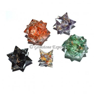 Assorted Crystal Orgone Merkaba Star