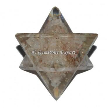 Crystal Quartz Orgonite Merkaba Star
