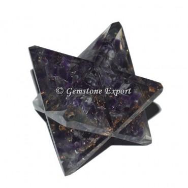 Amethyst Orgonite Merkaba Star