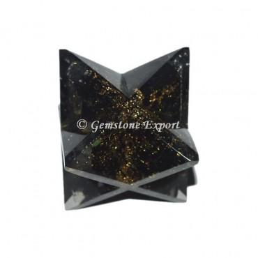 Black Tourmuline Orgonite Merkaba star