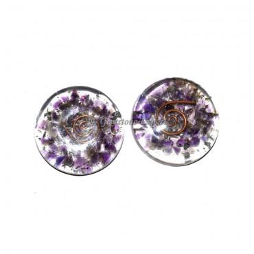 Orgone Amethyst Disc