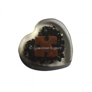 Black Tourmaline Healing Orgone Heart