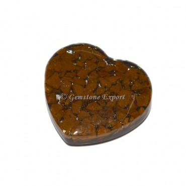 Yellow Jasper Orgonite Heart