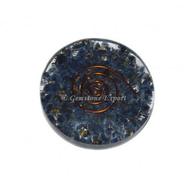 Sodalite Orgonite Disc Cab