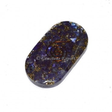 Crystal Blue Colour Orgone Oval Cabs