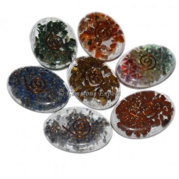 Multi Colour Orgone Oval Cabs