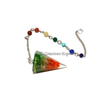 Orgone 3 Colors Stone Pendulums