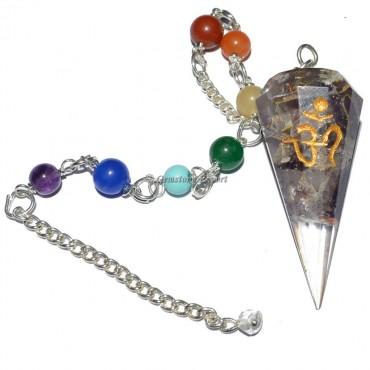Orgone Chakra Amethyst Pendulums with Om