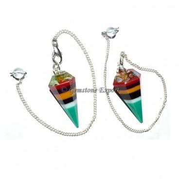 Orgone Chakra Layer Pendulums