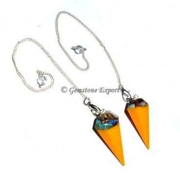 Orgone Chakra Stone Yellow Pendulums