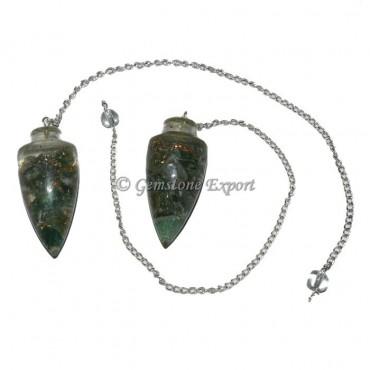 Labradorite Bullet Orgonite Pendulum