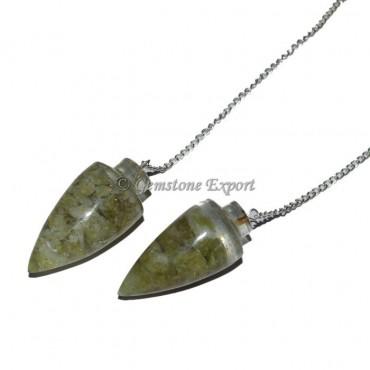 Green Jade Orgonite Pendulum