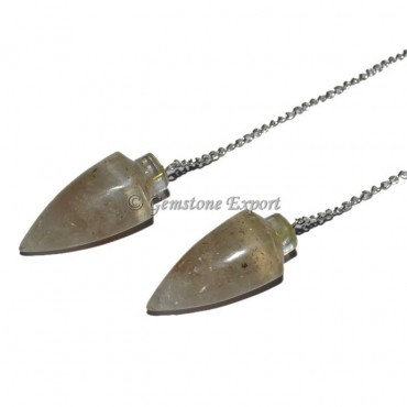Rose Quartz Bullet Orgonite Pendulum