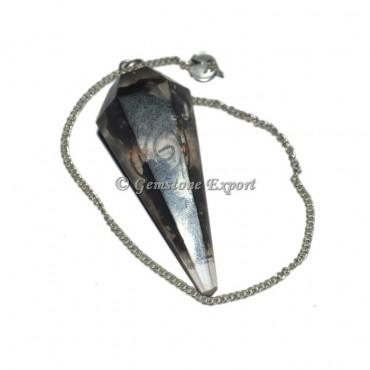 Black tourmuline Orgone Pendulum