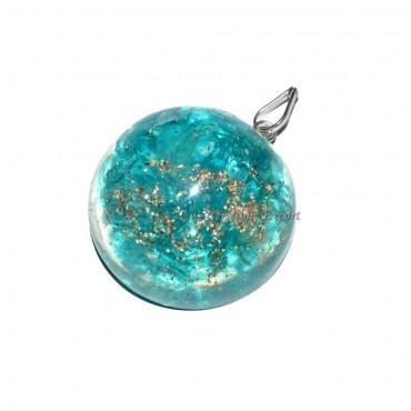 Orgone Round Supphire Pendants