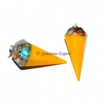 Orgone Pendulums with Chakra Stone Pendants